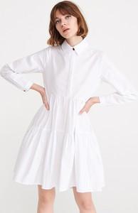 Sukienka Reserved w stylu casual rozkloszowana mini