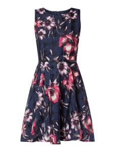 Granatowa sukienka Apricot bez rękawów mini z okrągłym dekoltem