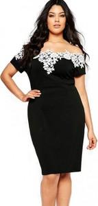 Czarna sukienka noshame hiszpanka dla puszystych