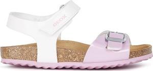 Buty dziecięce letnie Geox dla dziewczynek na rzepy