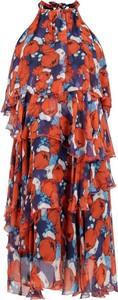 Sukienka Pinko z dekoltem halter w stylu boho mini