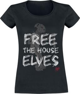 Czarny t-shirt Emp z okrągłym dekoltem w młodzieżowym stylu z bawełny