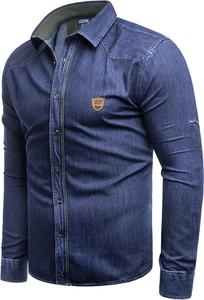 Koszula Risardi z klasycznym kołnierzykiem z jeansu