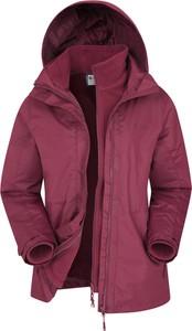 Fioletowa kurtka Mountain Warehouse krótka w sportowym stylu