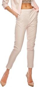 Różowe spodnie Ooh la la ze skóry