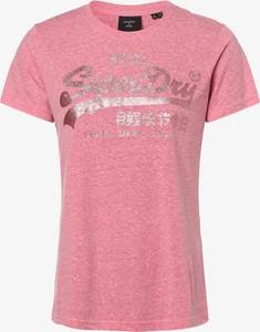 Różowy t-shirt Superdry