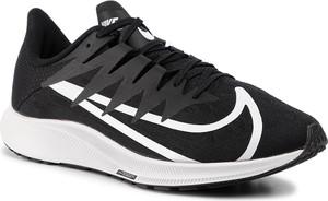 Czarne buty sportowe Nike zoom z płaską podeszwą
