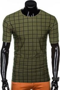 Zielony t-shirt Edoti z krótkim rękawem