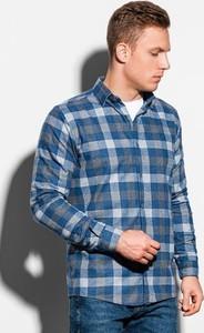 Koszula Ombre z długim rękawem w stylu casual