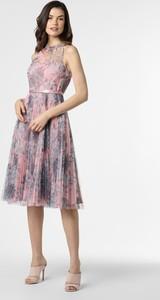 Różowa sukienka Marie Lund z tiulu z okrągłym dekoltem bez rękawów