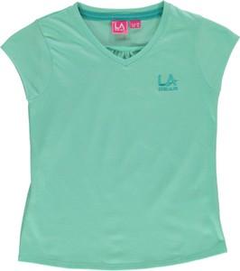 Miętowa koszulka dziecięca LA Gear