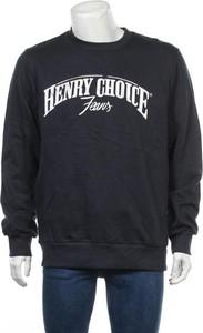 Niebieska koszulka z długim rękawem Henry Choice w młodzieżowym stylu z długim rękawem
