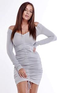 Sukienka Ptakmoda.com wyszczuplająca mini z dekoltem w kształcie litery v