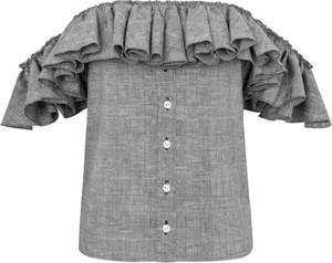 Bluzka Manifiq&Co. z krótkim rękawem z tkaniny
