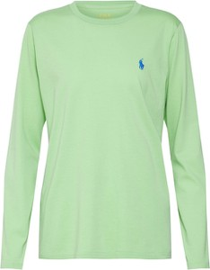 Zielona bluzka POLO RALPH LAUREN z dżerseju w stylu casual z okrągłym dekoltem