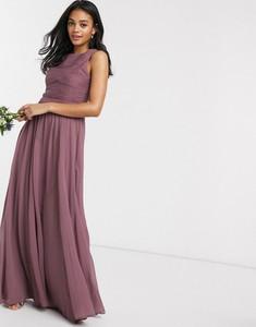 Fioletowa sukienka Asos Design bez rękawów maxi
