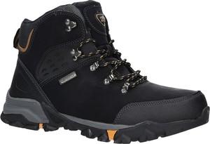 Granatowe buty trekkingowe Casu sznurowane
