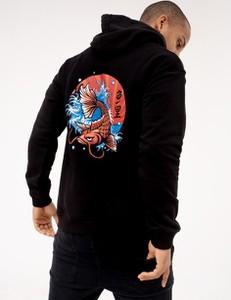 Czarna bluza Mystars z bawełny w młodzieżowym stylu
