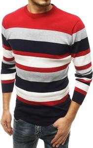 Czerwony sweter Dstreet z wełny