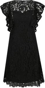 Czarna sukienka Guess Jeans z okrągłym dekoltem