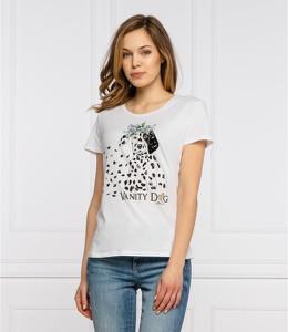 T-shirt Liu-Jo w młodzieżowym stylu z okrągłym dekoltem