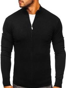Czarny sweter Denley w stylu casual