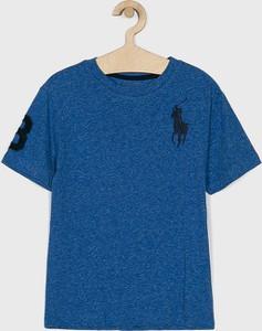 Niebieska koszulka dziecięca POLO RALPH LAUREN z krótkim rękawem z dzianiny