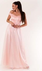 Różowa sukienka Eva&Lola maxi