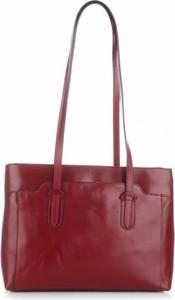 Bordowa torebka torbs