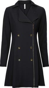 Czarna sukienka bonprix BODYFLIRT boutique z kołnierzykiem