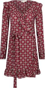 Sukienka Michael Kors z jedwabiu z długim rękawem