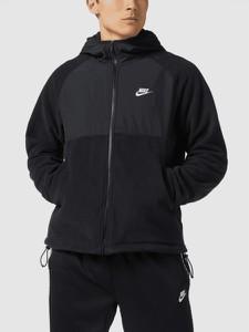 Czarna kurtka Nike z polaru w sportowym stylu
