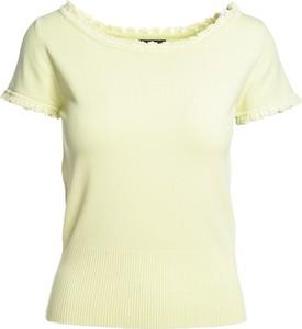 Zielona bluzka Multu z krótkim rękawem