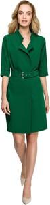 Zielona sukienka Style koszulowa