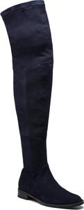 Czarne kozaki Gino Rossi za kolano na zamek