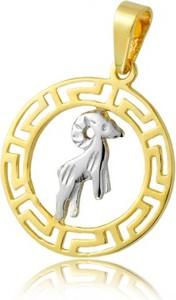"""Hosa Złota zawieszka znak zodiaku, wzór grecki """"Baran"""" (łączone złoto) (próba 333)"""