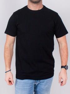 Czarny t-shirt Yoclub z bawełny
