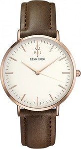 Damski zegarek KING HOON white-rose-brown