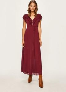Sukienka Twinset z dekoltem w kształcie litery v z tkaniny maxi