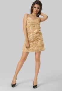 Złota sukienka producent niezdefiniowany mini
