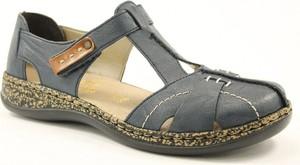 Granatowe sandały Rieker