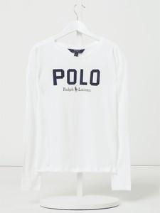 Bluzka dziecięca POLO RALPH LAUREN z bawełny dla dziewczynek z długim rękawem