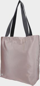 Różowa torebka 4F w stylu casual na ramię matowa