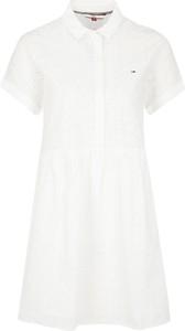 Sukienka Tommy Jeans z kołnierzykiem mini