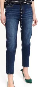Niebieskie jeansy Top Secret w street stylu