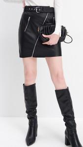 Czarna spódnica Mohito ze skóry