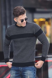 Granatowy sweter Duuf