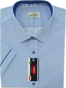 Niebieska koszula Marex Łódź z krótkim rękawem z bawełny