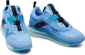 Niebieskie buty sportowe Nike z zamszu