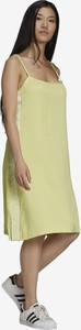 Zielona sukienka Adidas Originals w sportowym stylu na ramiączkach